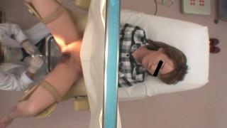 月経困難症の井上さんの内診台診察シーンその1・・・産婦人科盗撮 File11