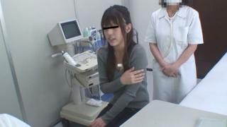 クラミジア治療中の黒髪美人の服部さん問診シーン 実録・産婦人科盗撮 File12