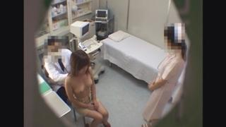 20歳美乳女子大生マユさん レディースクリニック検診隠し撮り No.8 ~胆嚢炎 問診~