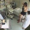 半裸でベッドに横たわる姿が結構エロイ24歳公務員ミユキさんのエコー診察 レディースクリニック検診隠し撮り No.12