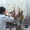 メガネ美人の川津さんは子宮筋腫で診察中・・・内診台診察② 実録・産婦人科盗撮 File23