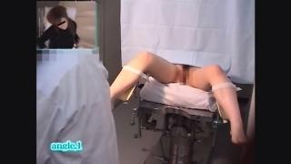 【流出】産婦人科診察隠し撮り File01-C ちっぱい美乳な23歳OLノリエさん 内診台診察アングルA