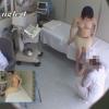 色白で美巨乳な女子大生エリカさん(22歳)のエコー診断 レディースクリニック検診隠し撮り No.26