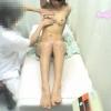 微乳を触診・ちっぱいだけど弾力がありそうな短大生ユミさん(20歳)・・・不安と羞恥の診察室 File19 エコー検診&触診