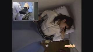 背徳の内診台診察隠し撮り 産婦人科診察#001 23歳美人OLサオリさんの内診台編アングルB