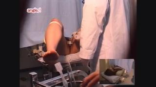 長身ナイスバディの19歳短大生ナナミさん 内診台診察 File07-B1 鬼畜の産婦人科診察隠し撮り