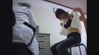 黒い下着がセクシーな24歳OLカナさん 鬼畜の産婦人科診察隠し撮り File08-A1  問診