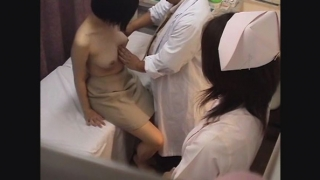 【短大生は超美巨乳】サオリさん(19)問診・触診編2 産婦人科診察#014A-2