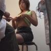 【なかなか美乳なフリーターのケイコさん(24)問診・触診編2 産婦人科診察#014A-2