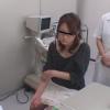 メガネ美人の川津さんは子宮筋腫で診察中・・・問診シーン 実録・産婦人科盗撮 File09