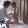 25歳ミサトさんの弾力のある美巨乳をモミモミ。恥ずかしそうな姿がたまらん ~ 生理不順 エコー&触診 ~都市型産婦人科クリニックFile24