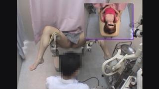 チラりと覗く胸元がエロい飲食業フミカさん(20)の開脚内診台診察(前半)・・・ 婦人科診察のすべて File14-b