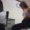 【大きめの乳輪と乳首がエロいOLアイさん(27)】 問診・触診編 産婦人科診察#014A-1